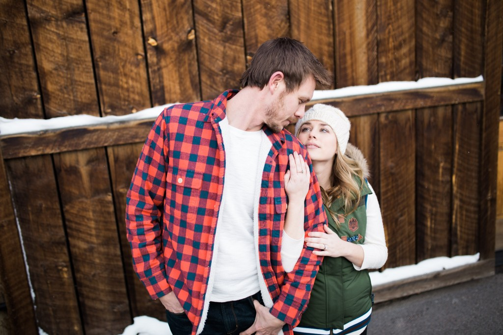 Barn engagement session in Breck.