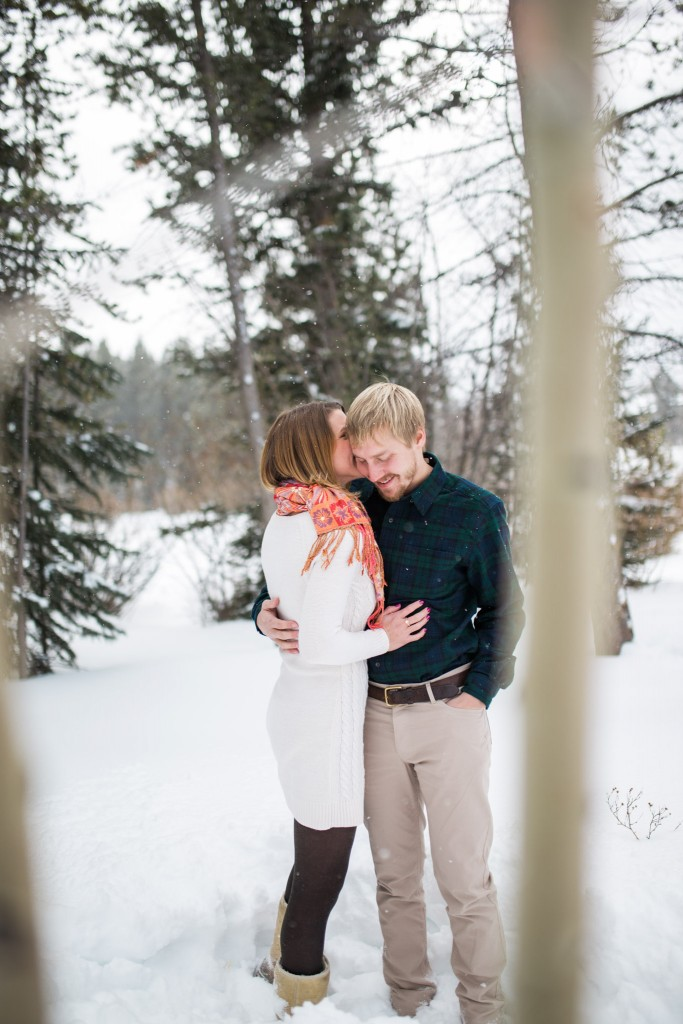 This couple was so sweet at their Breckenridge engagement session