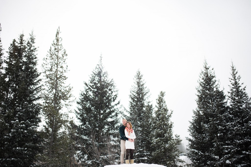 Loved this styled mountain engagement session