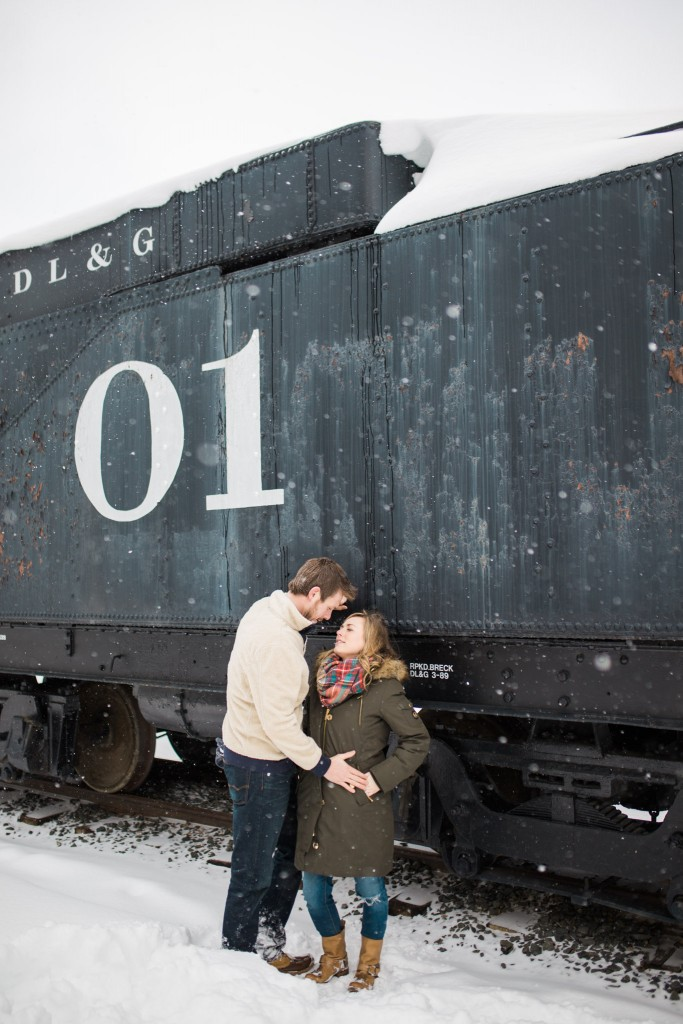 Loved this train maternity session in Breckenridge Colorado
