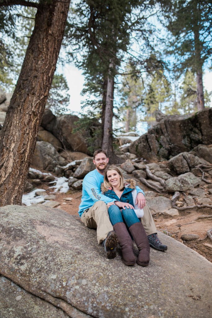 Couple in Conifer taking Engagement photos