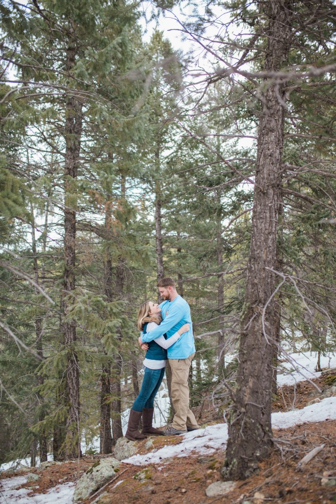 Winter engagement session by Brick and Willow Photography