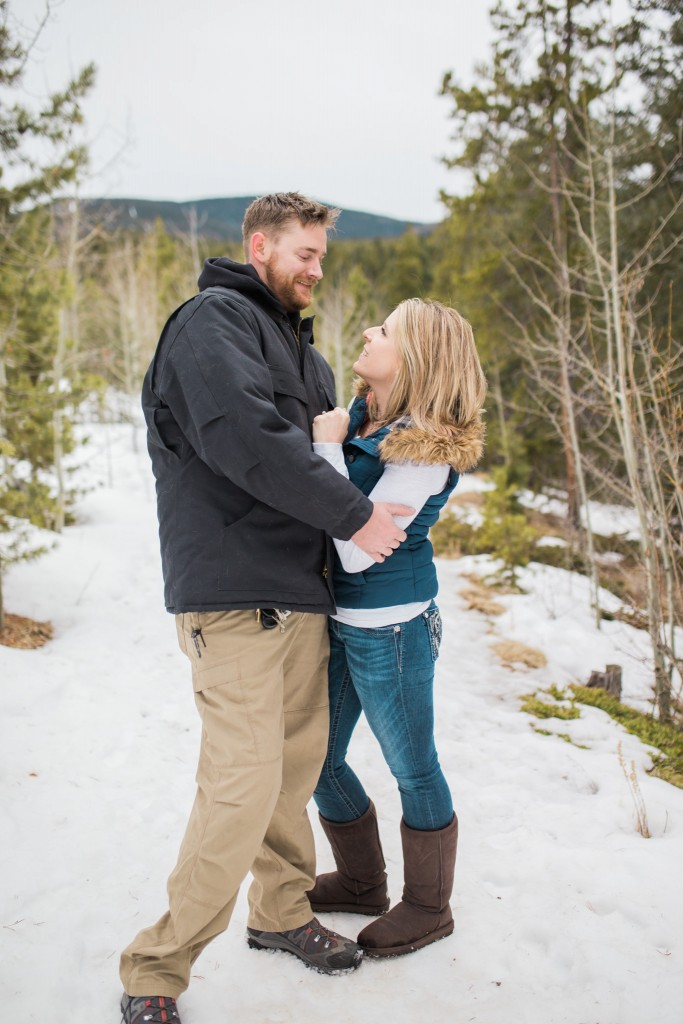 Engagement session in Conifer, Colorado