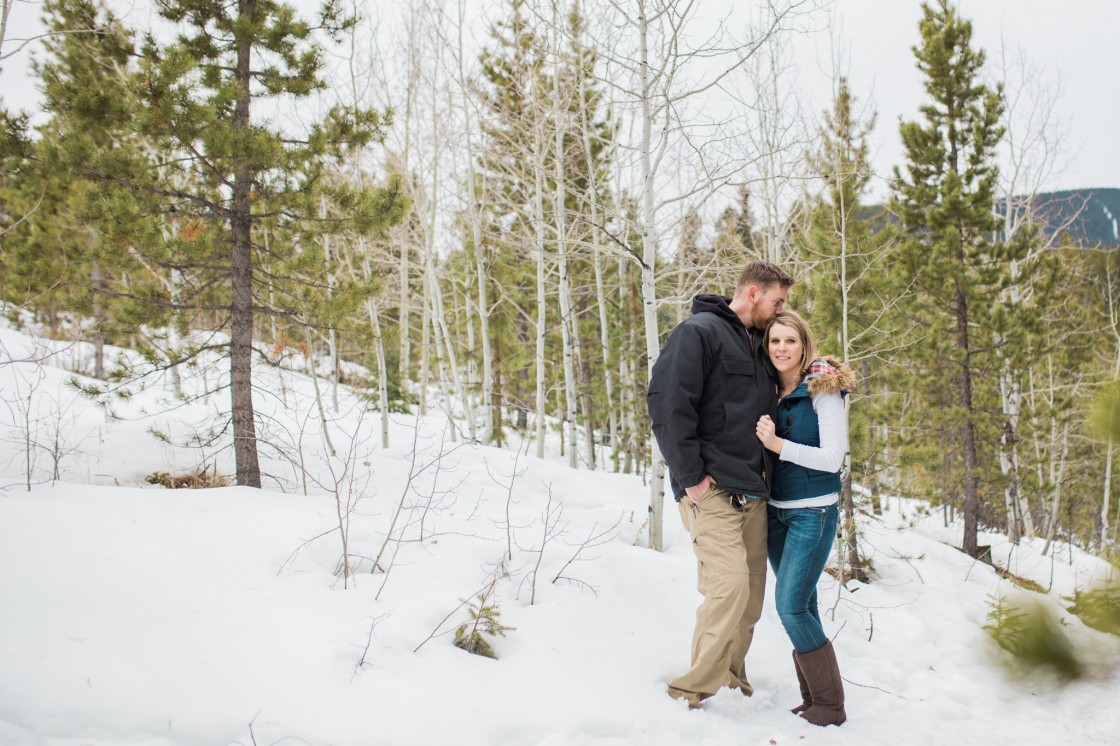 Ryan and Caroline's Colorado Mountain Engagement Session
