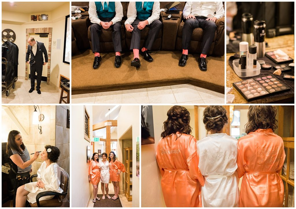 Groomsmen and bridesmaids at Della Terra Mountain Chateau